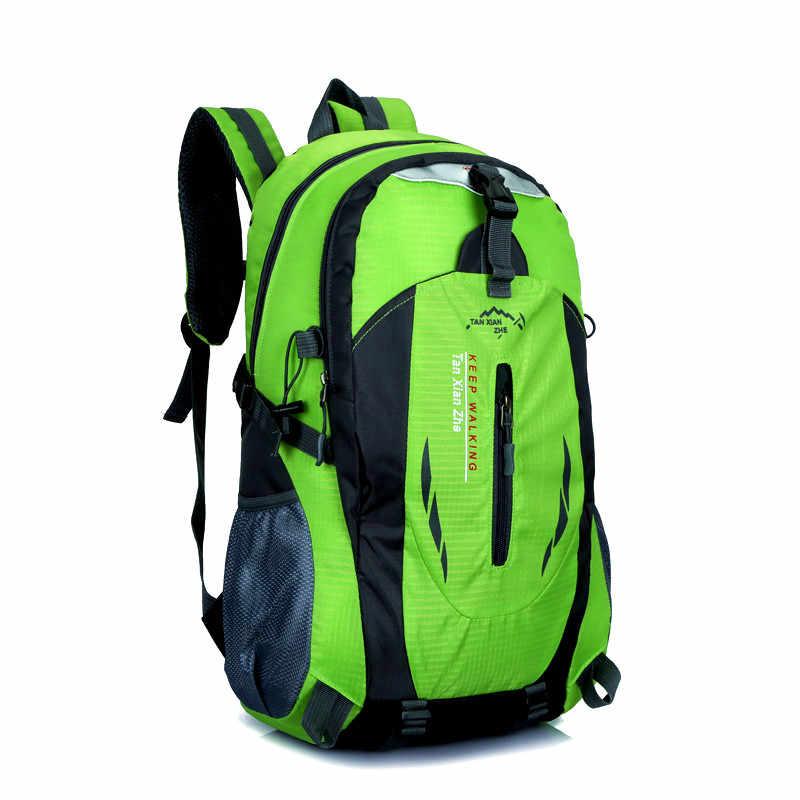 e1ada608baf5 Travel Climbing Backpacks Men Travel Bags Waterproof 40L Hiking Backpacks  Outdoor Camping Backpack Sport Bag Men Backpack
