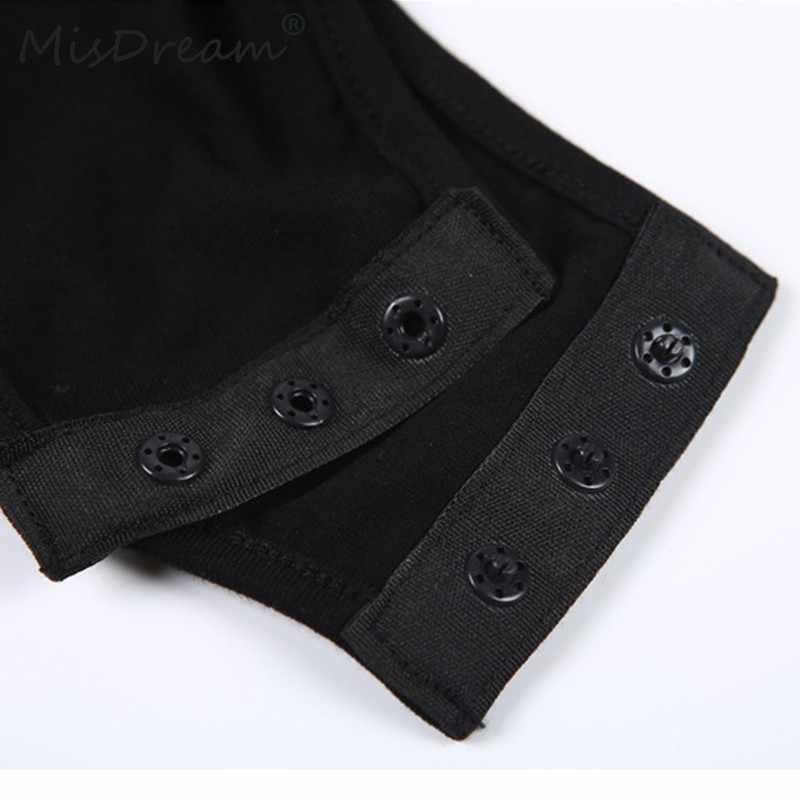 MisDream пикантные на шнуровке Черный боди Новинки для женщин без рукавов утягивающий комбинезон Bodycon спинки Летний комбинезон-ромпер комбинезон