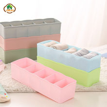Msjo Storage Box 5 Lattices Drawer Plastic Storage Box Bra Underwear Sock Cosmetic Sundries Organizer Desktop Drawer Storage Box(China)