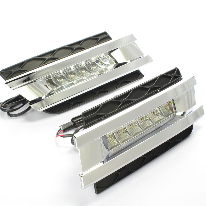 2 PCs LED Daytime Running Light For Mercedes-Benz gl gl350 gl400 gl450 gl500 x164 2006-2009  Best Quality Wholesale Price Newest auto fuel filter 163 477 0201 163 477 0701 for mercedes benz