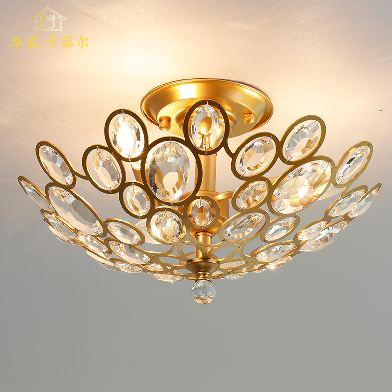Modern Crystal LED Ceiling light Fixture For Indoor Lamp lamparas de techo Surface Mounting Ceiling Lamp For Bedroom Dining Room modern 3 6 lights crystal glass clear wineglass wine glass ceiling light lamp bedroom dining room fixture gift ems ship