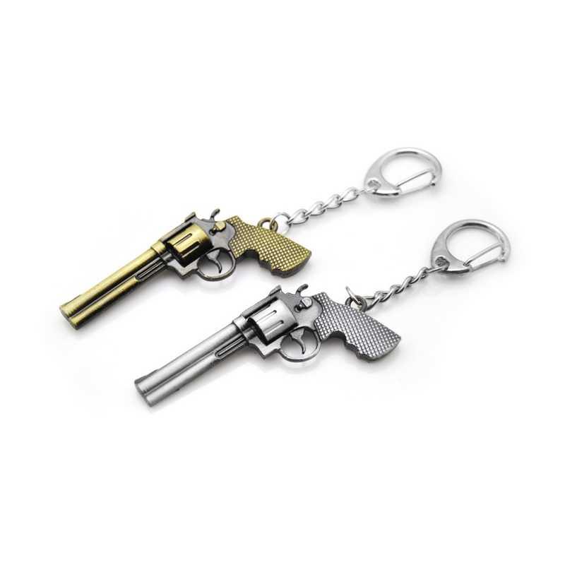 Original nueva novedad Counter Strike pistolas revólver Bullet llavero hombres baratija CS GO Plane llavero joyería masculina Souvenirs regalo
