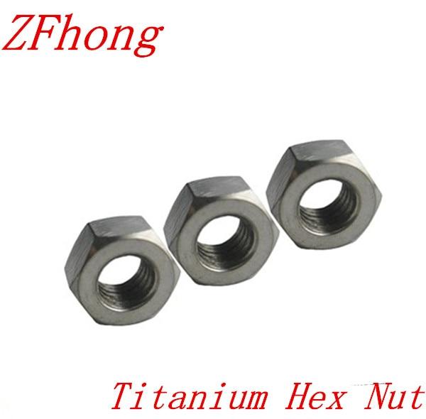 20pcs m1.6 M2 m2.5 m3 m4 m5 m6 m8 m10 m12 m14 titanium hex nut grade 2