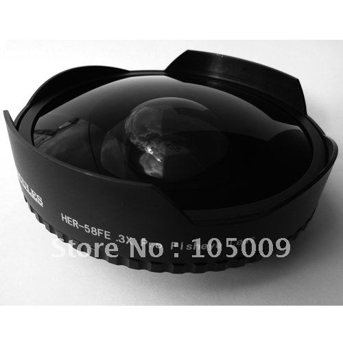 58 мм 0.3X ультра рыбий глаз Широкий объектив для 58 мм 0,3 видеокамеры DV