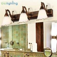 L16/30/46/64 см; европейский и американский стиль старинные кованые Настенные светильники зеркало с подсветкой led лампа в деревенском стиле Make up косметическое приспособление