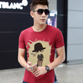 The new Korean men's men's T-shirt short sleeve shirt men's shirt shirt male backing free join XXXL 4xl 5xl