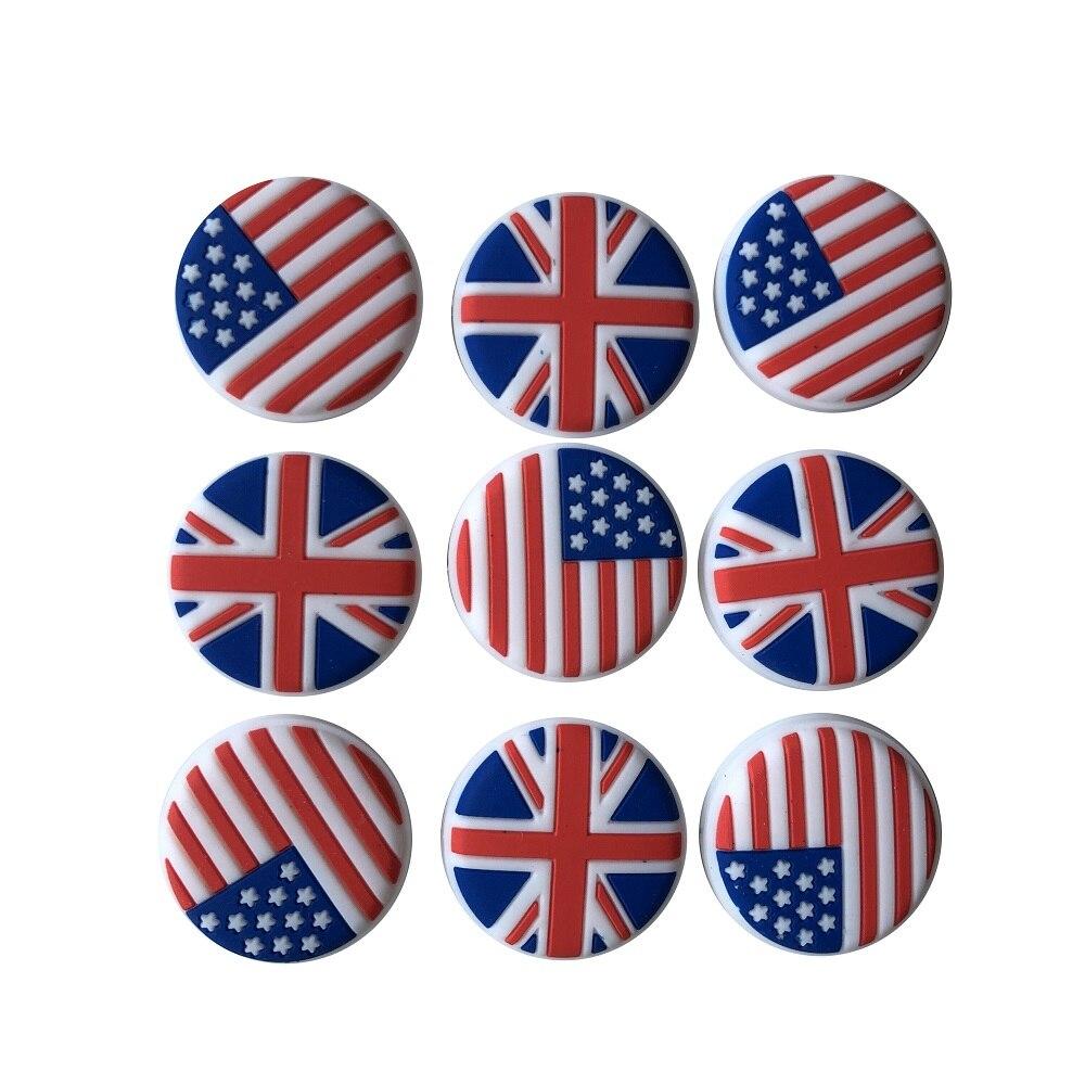 6 шт./лот) Национальный флаг дизайн вибрации dampener/теннисные ракетки демпферы вибрации