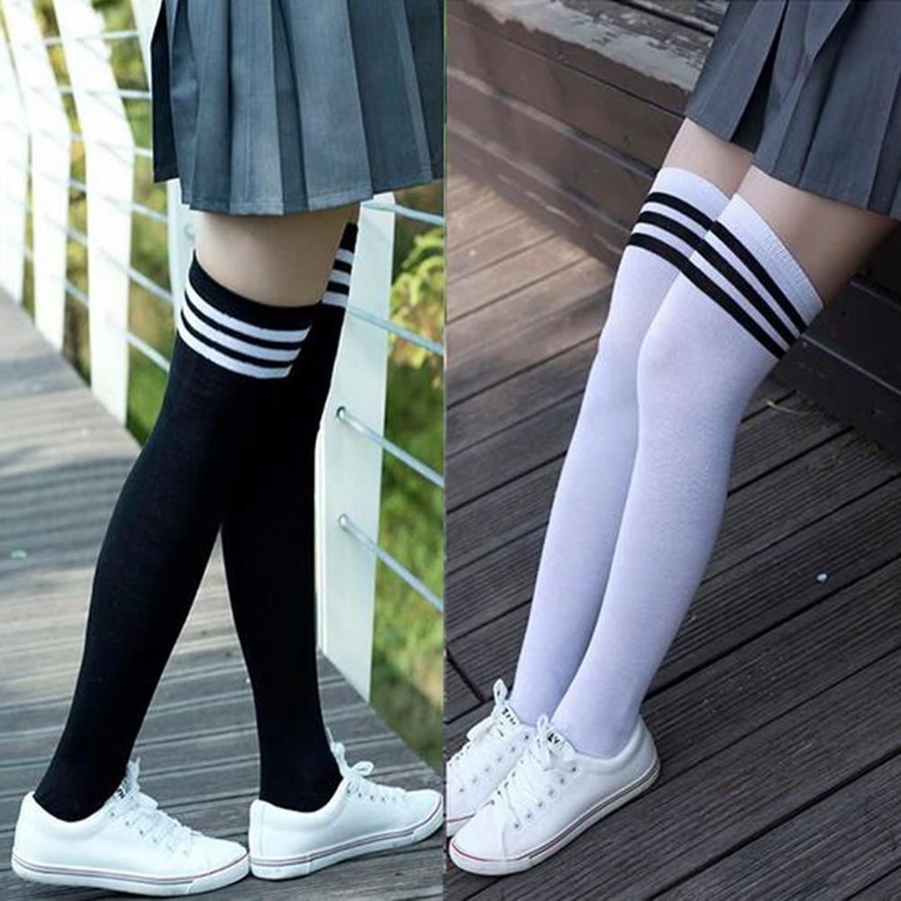 Girls Women's Socks Clothing Non-Slip Anti-Hem Fashion Thigh High Over Knee High Socks Stockings Hosiery