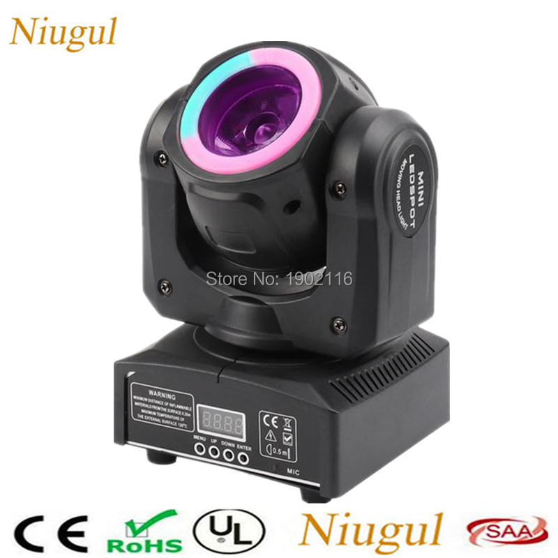 Niugul RGBW 4IN1 60W Beam With RGB 3IN1 LED strips Wash Moving Head Light For Home Party Wedding Events/DJ Disco Stage Lighting