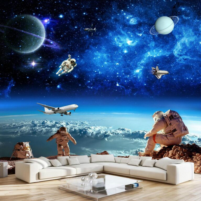 custom home improvement 3d wall paper rolls photo wallpaper for walls 3d Cosmic starry galaxy ceiling wall wallpaper murals браслет из авантюрина классика
