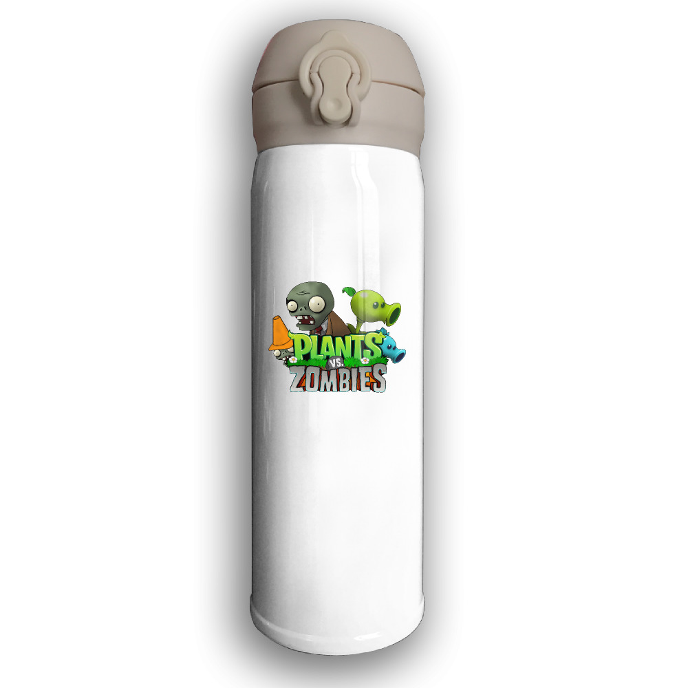 Plants VS Zombies Print Thermos Portable Travel Stainless Steel Cup 500ML Vacuum Cup