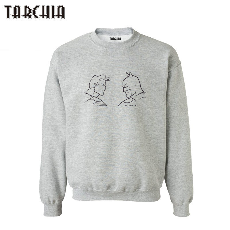 TARCHIA parental survetement homme marque 2019 new brand batman superman hoodies sweatshirt personalized man coat casual