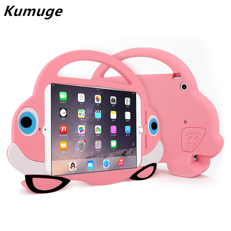 Cover Case for iPad Mini 4 Kids Shockproof EVA Foam Cute Fish Handle Stand Cover for iPad Mini 1/2/3 7.9 inch Children Coque+Pen kids handle stand eva shockproof new tablet cover case for 9 7 inch ipad 2 3 4 air3 ipad pro 9 7 tablet best for kids gift