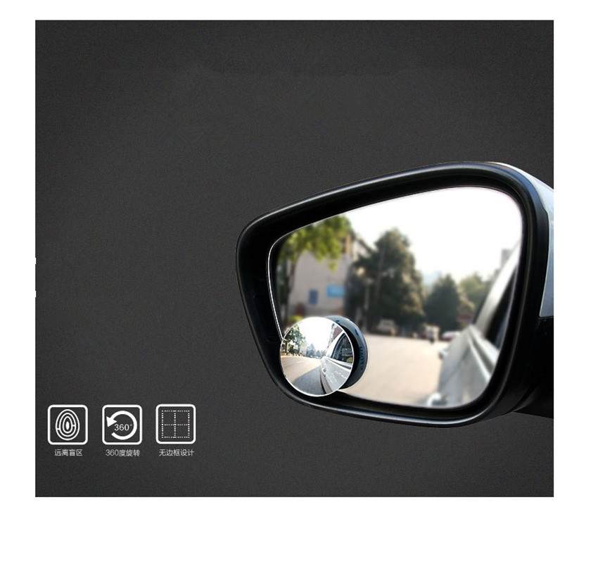 2pcs New 360 Degree Car Round Mirror For Cadillac Ats Srx Cts Lincoln Mk Remote For Ssangyong Kyron Rexton Korando Actyon Fashionable(In) Style;