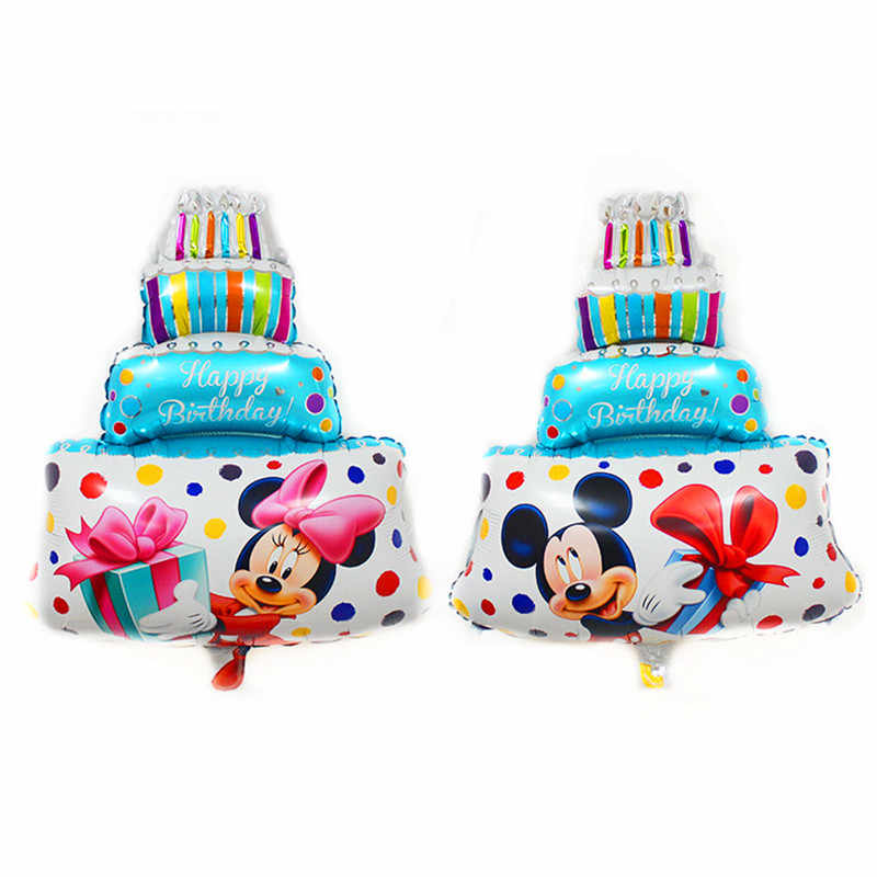 Fantastic Xxpwj Free Shipping Mini Minnie Mickey Cake Aluminum Balloon Funny Birthday Cards Online Inifofree Goldxyz