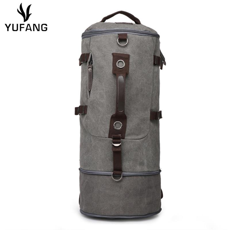 YUFANGที่มีคุณภาพสูงคลาสสิกชายกระเป๋าเดินทางขนาดใหญ่ความจุชายเดินทางกระเป๋าเป้สะพายหลังถังกระเป๋าสะพายกระเป๋าลำลองD Aypackผู้ชาย-ใน กระเป๋าเป้ จาก สัมภาระและกระเป๋า บน AliExpress - 11.11_สิบเอ็ด สิบเอ็ดวันคนโสด 1