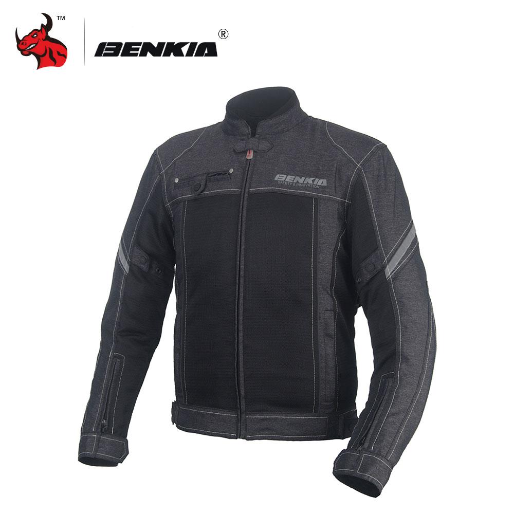 Men's enduro jacket - Benkia Black Men Motorcycle Jacket Retro Style Motocycle Racing Jacket Coat Chaqueta Moto Hombre Motorcycle Mesh