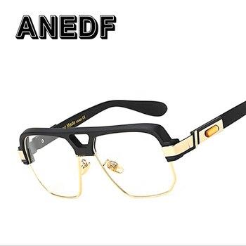 f36142b6e6 ANEDF Popular de gran tamaño las mujeres gafas de sol cuadradas de marca de  diseñador de los hombres de la moda transparente lente claro, Marco medio  de ...