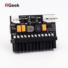 RGEEK 150W 24Pin 12V wejście DC szczyt 150P wyjście Realan Mini ITX Pico zasilacz DC ATX przełącznik PC DC DC ATX zasilacz do komputera