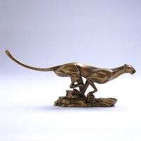 Abstrato moderno chita escultura polyresin leopardo estátua ornamento artesanato acessórios para o presente de negócios e decoração do quarto|Estátuas e esculturas|Casa e Jardim -