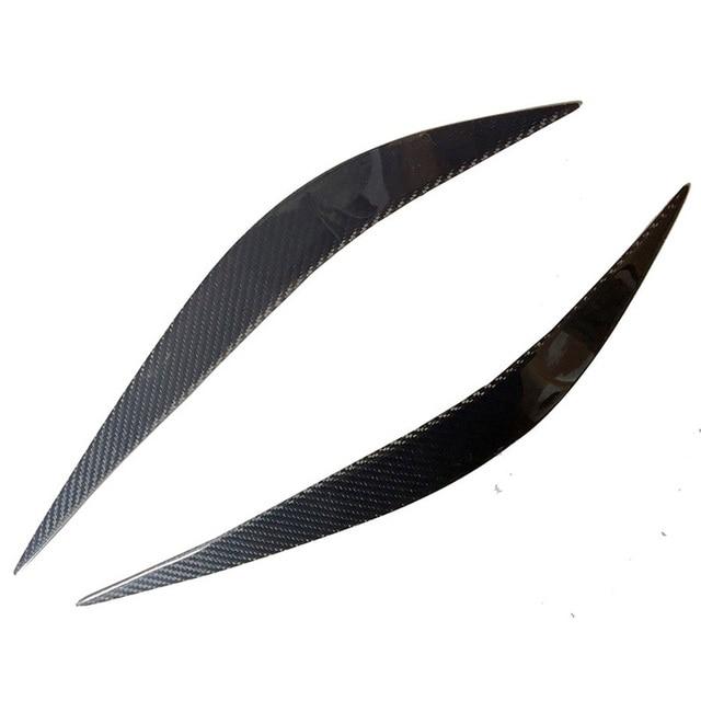 F32 F36 F82 Carbon Fiber Car Headlight Eyelid Eyebrows Cover trim Sticker for BMW F32 F36 F82 2014-2016 Free shipping