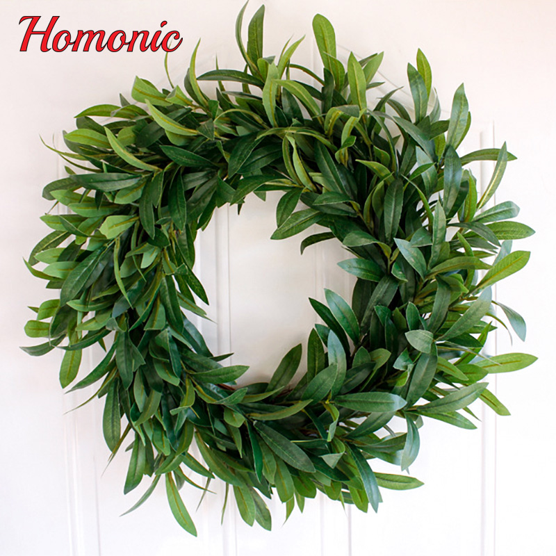 Artificial simulation plant Wreaths Wall ornaments decorative olive ...