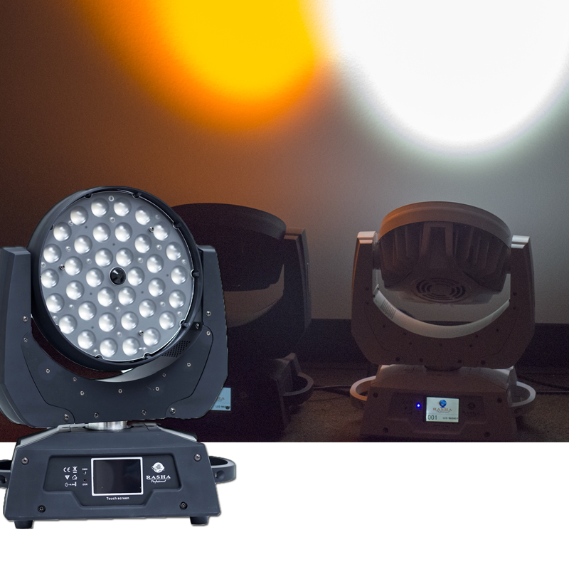 (Pack of 12) RASHA STAGE LIGHT 36pcs*15W 5in1 RGBAW ZOOM LED Moving Head Wash Light With Powercon For Event Club
