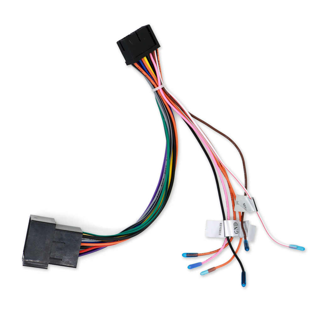 car stereo radio iso wiring harness connector power cable [ 1000 x 1000 Pixel ]