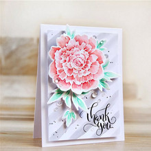 YaMinSanNiO Spring Flower Metal Cutting Dies Rubber Stamps and 2019 for Card Making Blossom Flowers Scrapbooking Craft