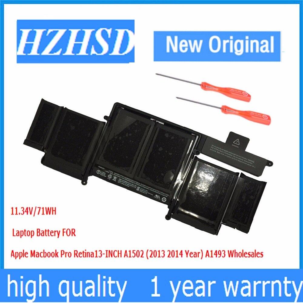 все цены на A1493 11.34V/71WH Original Laptop Battery FOR Apple Macbook Pro Retina13-INCH A1502 (2013 2014 Year) онлайн