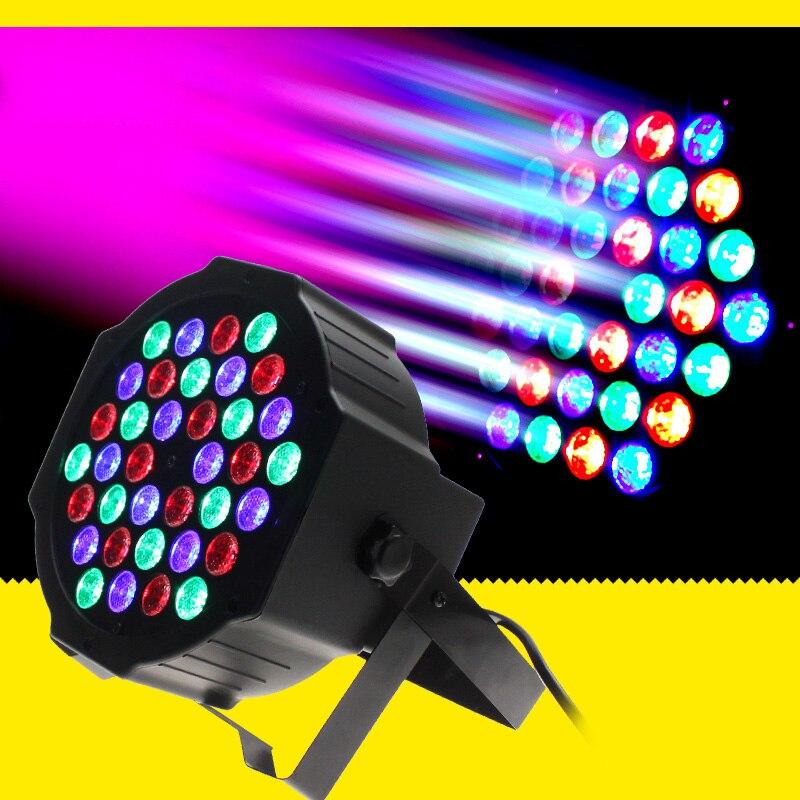 36W LED Stage Lights RGB Par Led DMX Stage Lighting Disco Wash Light Equipment 7 Channels Effect Lights for Bar DJ Party Show