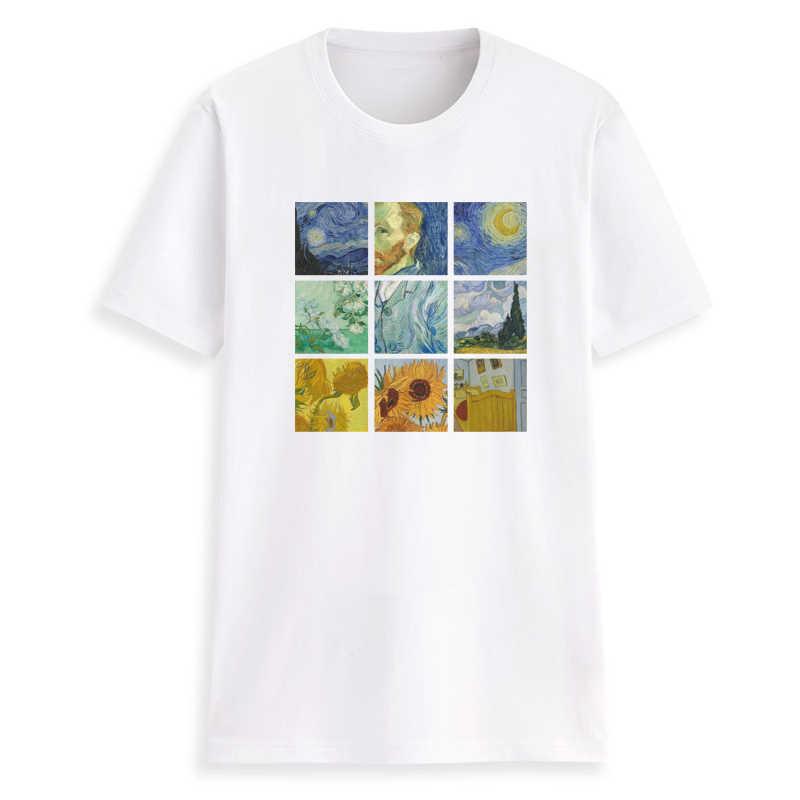 be9772f6320bf Hillbilly Oil paintings by Van Gogh Tshirts Graphic T Shirt Women 2018  Vintage Tshirt Cotton Tee Shirt Plus Size T Shirt Women