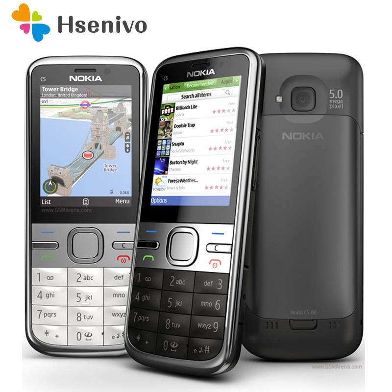 C5 00i Original Phone Unlocked Nokia C5 C5 00 Cell phones GSM 3G 3Mp Camera FM