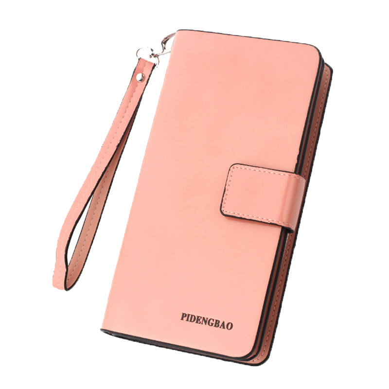 Women Wallet Leather Card Coin Holder Money Clip Long Phone Clutch 2017 Hot Sale Wristlet Photo Zipper Cash Pocket Female Purse wristlet travel women long wallet double zipper female clutch coin card phone card holder brand leather casual dollar cute purse