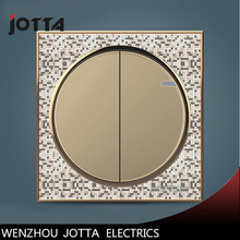 EU Standard Touch Switch Crystal Glass Panel Wall Light Touch Dimmer Switch