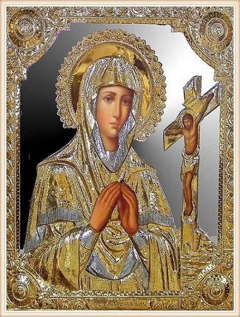 Diamant Mosaik Diy 5D Diamant Stickerei Gebet Madonna Diamant Malerei - Kunst, Handwerk und Nähen
