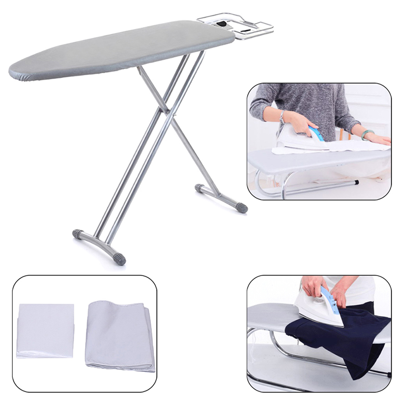 2 Sizes Home Universal Silver Coated Padded Ironing Board Cover & 4mm Pad Thick Reflect Heavy Heat Reflective Scorch Resistant2 Sizes Home Universal Silver Coated Padded Ironing Board Cover & 4mm Pad Thick Reflect Heavy Heat Reflective Scorch Resistant