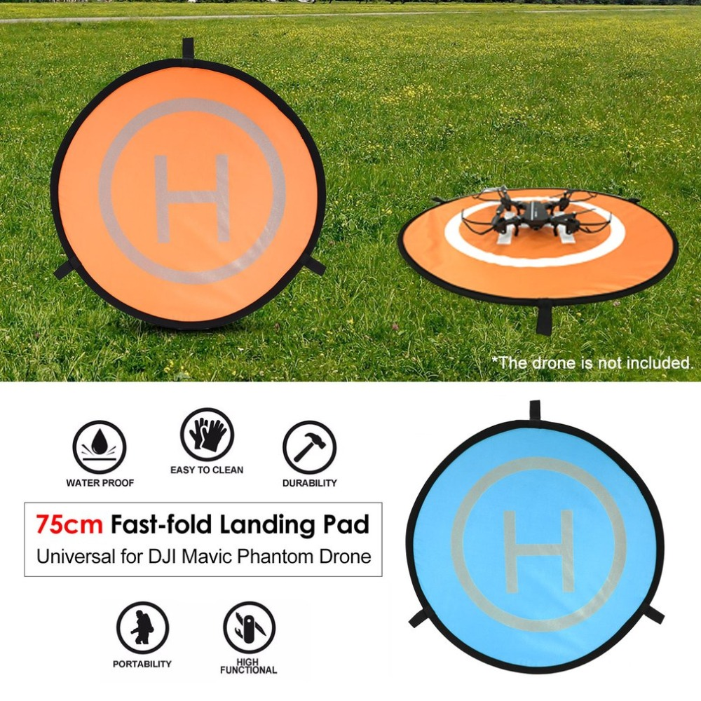 75cm Fast-fold Landing Pad Universal FPV Drone Parking Apron Waterproof Pad For DJI Spark Mavic FPV Racing Drone Helicopter easttowest portable fast fold 75cm drone landing pad for dji mavic pro spark mavic air phantom 2 3 4 drone quadcopter
