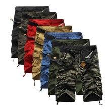 Angleterre Style Hommes D'été Pantalon Court Genou Longueur Militaire Shorts Cargo Camouflage Pantalon Lâche Bermudes Pantalon Multi-Poches(China (Mainland))