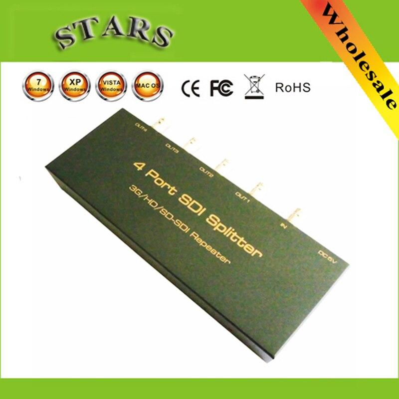 SDI Splitter 1x4 3G/HD/SDI répéteur 4 Port SDI Splitter soutien 1080 P 100 M Distribution Extender, Livraison Gratuite