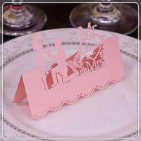 100 מושב יח'\חבילה פרפר מר וגברת טובה דקור כרטיס שם מקום כרטיסי מסיבת חתונת שולחן קישוט החתונה לחתוך לייזר 5ZXX01