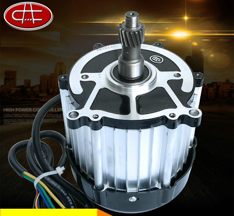 DC48V/60V 3200rpm 750W Small DC magnetic brushless motor / differential motor / electric scooter motor