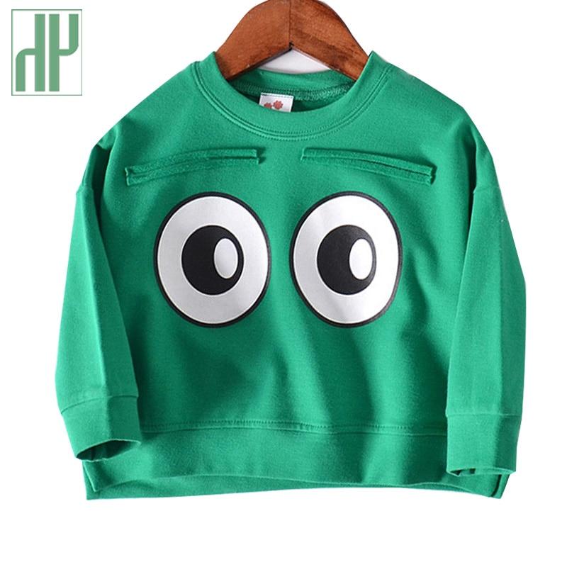 Kids hoodies Cartoon eyes boys girls outerwear baby spring autumn Long sleeve Casual sweatshirts children Tops Costume 1-5 years