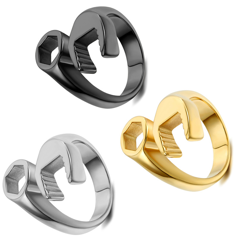 Мужские Винтажные кольца крутые байкерские механический ключ