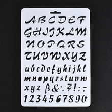 Lettering Stencils, Letter and Number Stencil, Painting Paper Craft Alphabet and Number Stencils недорого