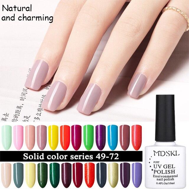 mdskl moda 1 unids uv gel esmaltes de uas 96 colores uvled barniz uas - Color De Uas De Moda