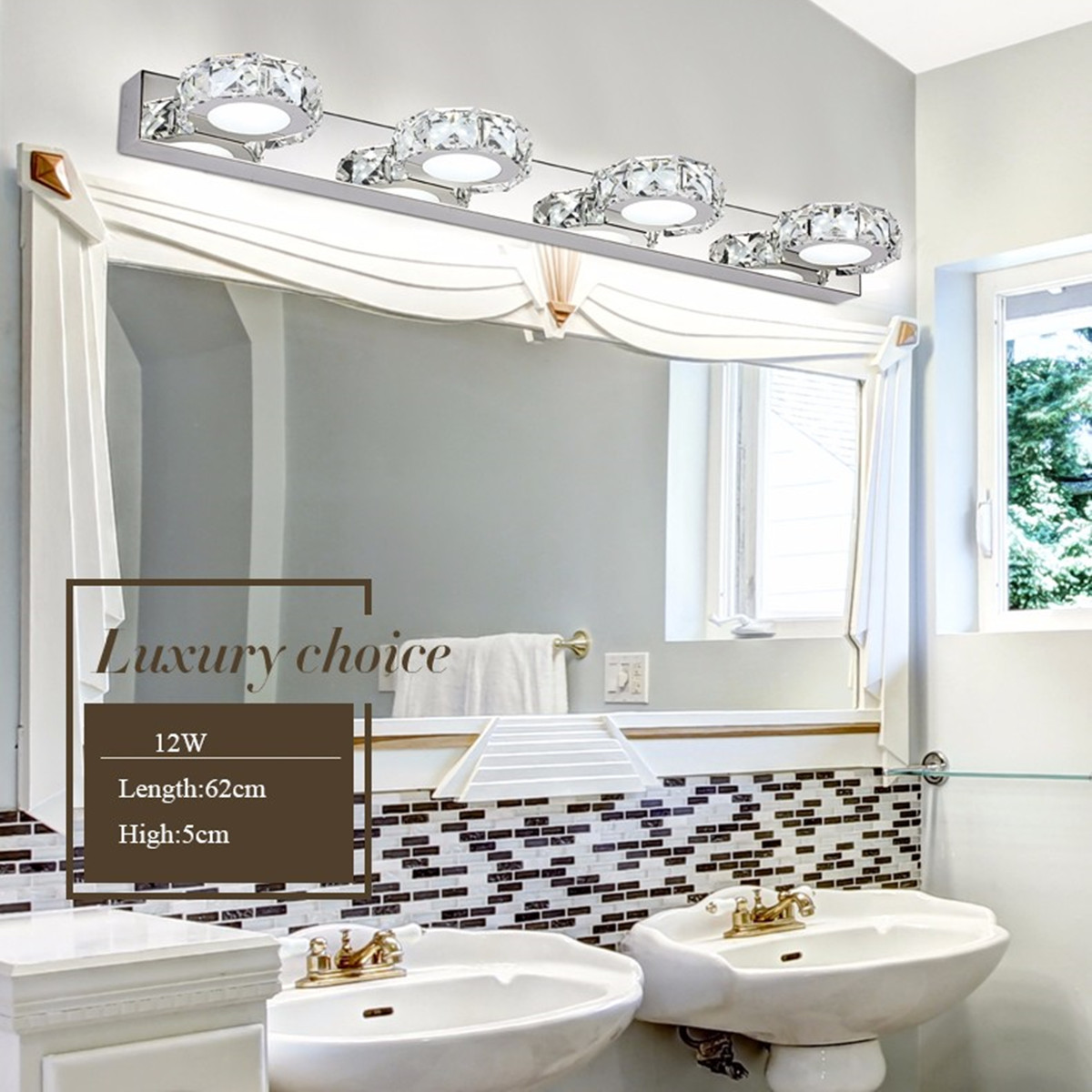 LED Crystal Bathroom Wall Lamp Modern Noble Design High Efficiency Fixture Mirror Light Make up Vanity Ligh 3/4 Head Energy Save серьги коюз топаз серьги т142026393