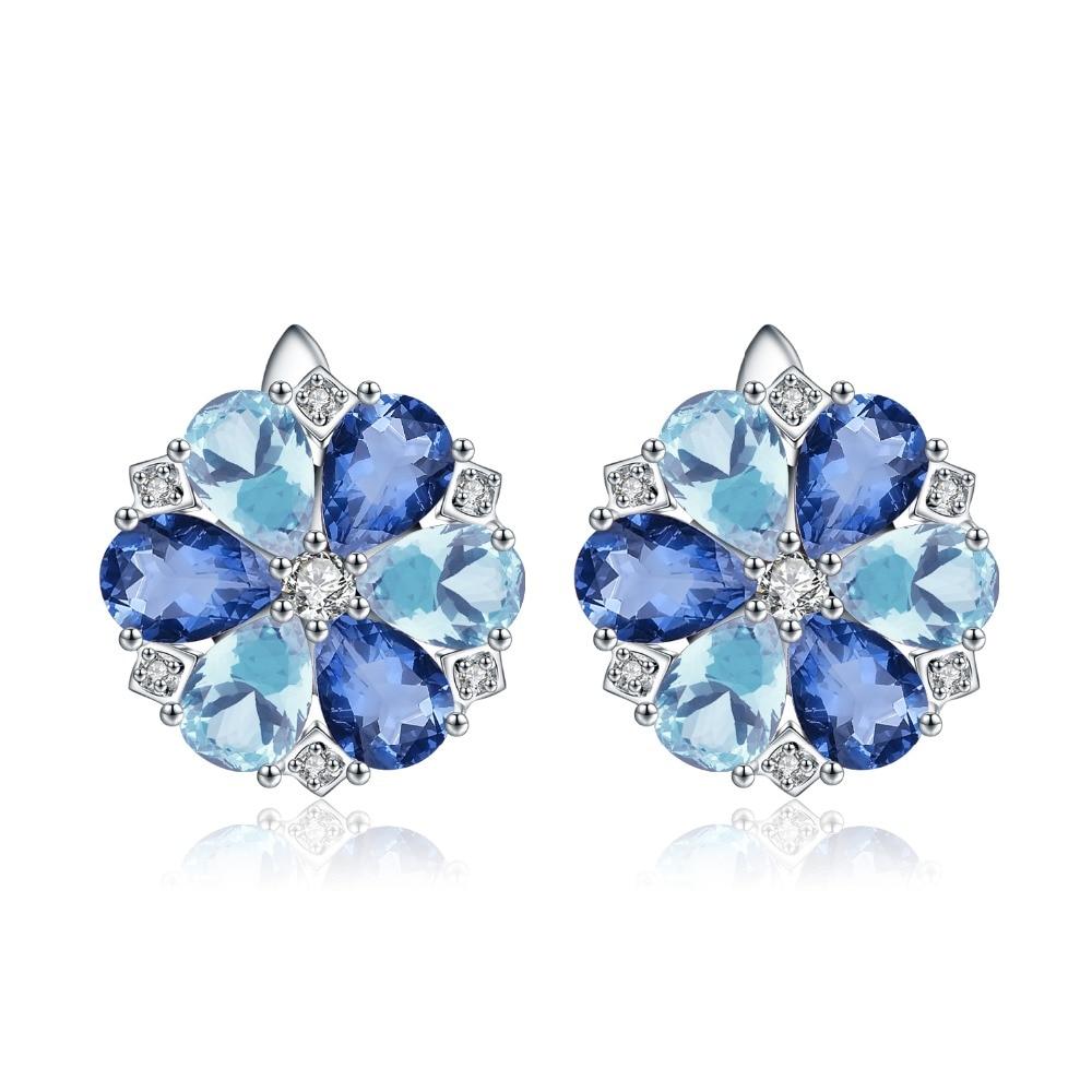 MYSTIC QUARTZ Gemstones Earrings 925 Solid Sterling Silver Wholesale Supplier
