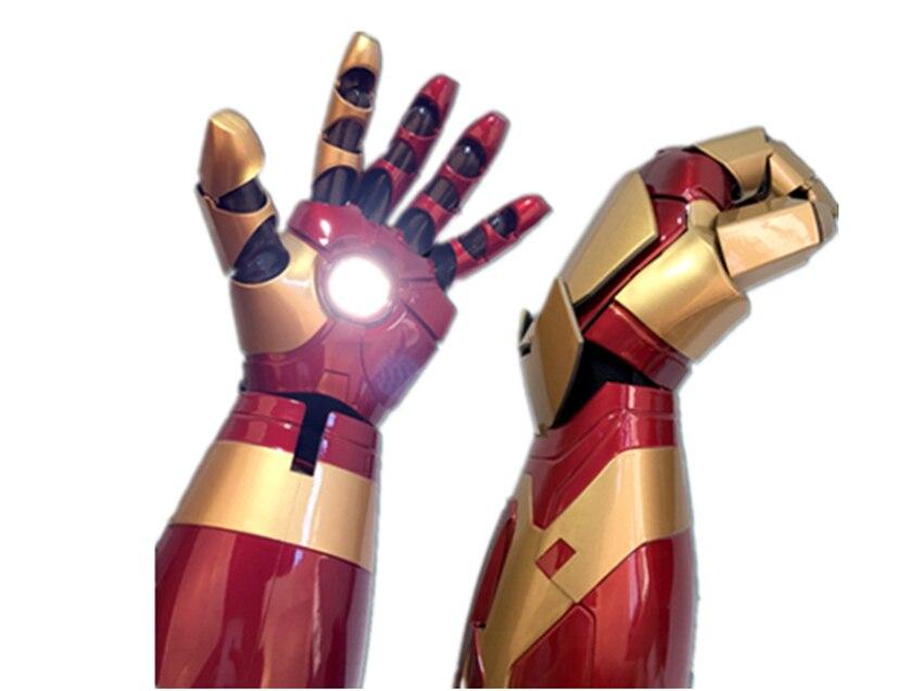 MK42 Mark42 XLII 4 носимых Blaster Gauntlet рука Cattoys MK42 руку вправо/1/1 светодио дный броня рука для Железный человек