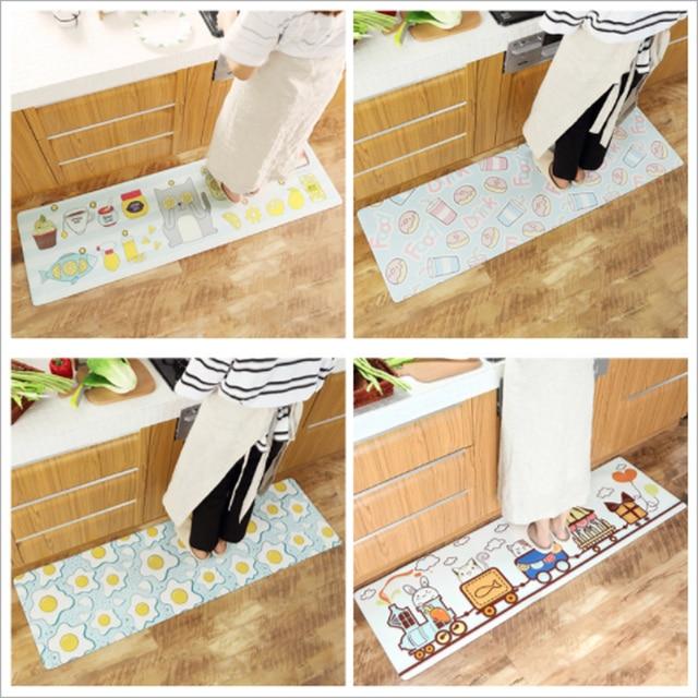 Kitchen Runner Mat Inexpensive Remodel Simple Fashion Cartoon Fruit Animal Pattern Carpet Non Slip Living Room Bedroom Rug